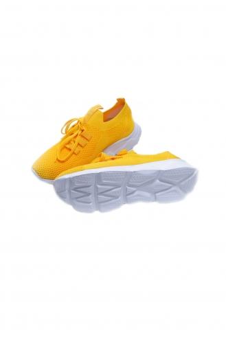 Life Comfort Günlük Kadın Triko Spor Ayakkabı P00000962-13 Sarı