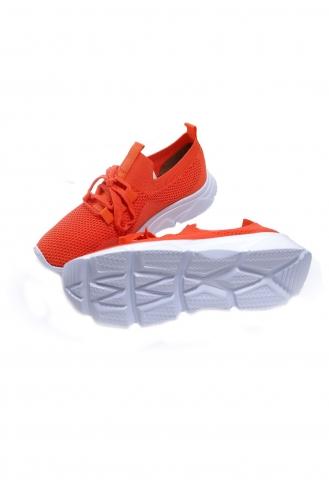 Life Comfort Günlük Kadın Triko Spor Ayakkabı P00000962-09 Turuncu