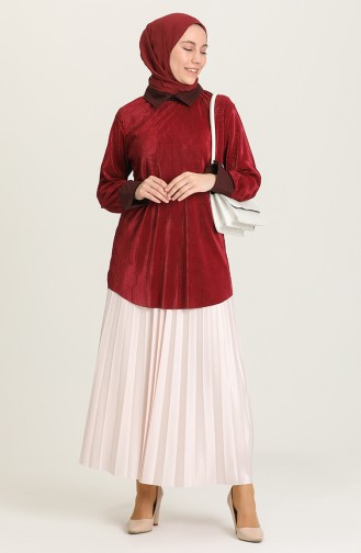 Weinrot Bluse 4480-03