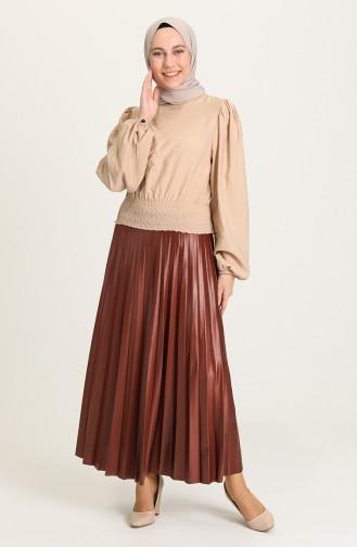Brown Skirt 1006-04