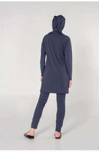 Rauchgrau Hijab Badeanzug 7122-01