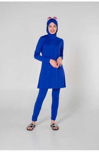 Saxon blue Swimsuit Hijab 7123-01