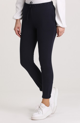 Pantalon Sport Bleu Marine 6100-10