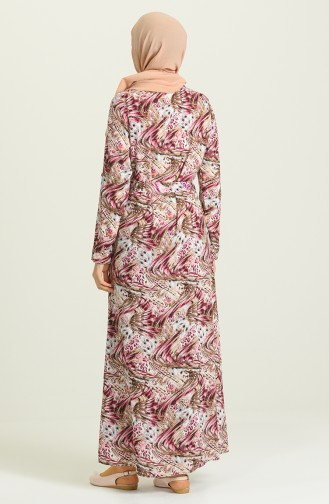 Fuchsia İslamitische Jurk 0014-02