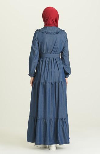 Robe Hijab Bleu Marine 7002-02