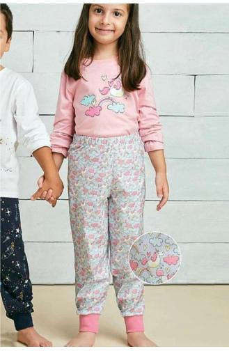 ملابس نوم للأطفال وردي 00379-01
