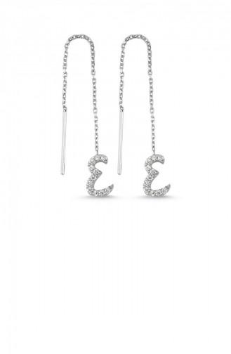 Silver Gray Earrings 003-3724