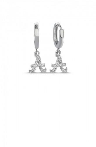 Silver Gray Earring 004-3744