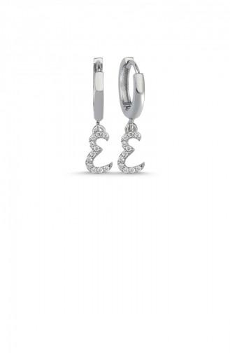 Silver Gray Earrings 004-3748