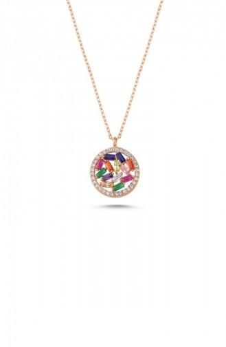 Rose Tan Necklace 00244-4084 - Kopya
