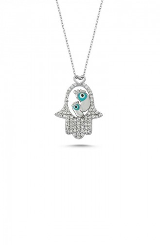 Silver Gray Necklace 00255