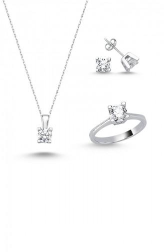مجوهرات رمادي فضي 6156-4863