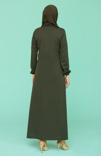 Khaki Abaya 1013-04