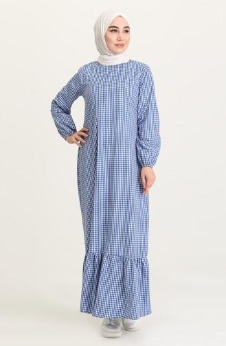 Saxe Hijab Dress 5008-04