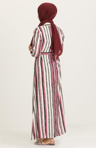 Fuchsia İslamitische Jurk 0016-02