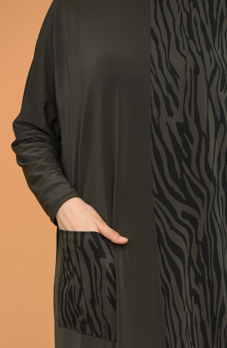 فستان كاكي 1497-02