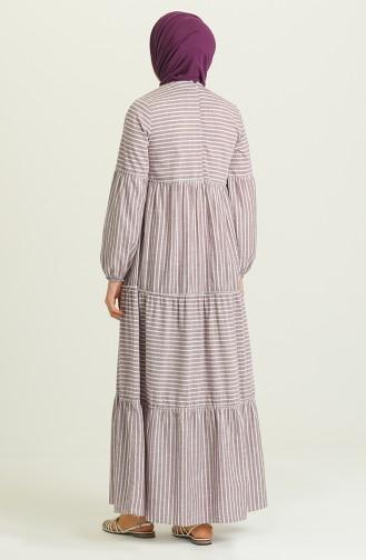 Claret Red Hijab Dress 21Y8348-04