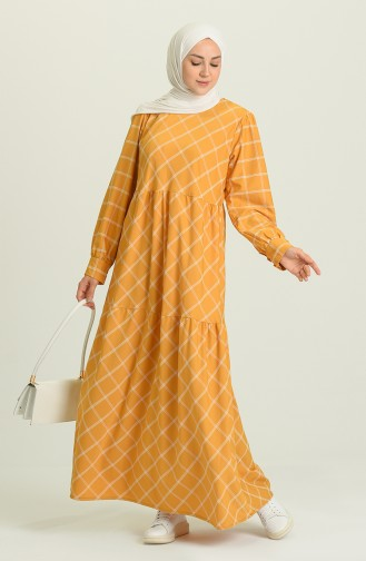 Robe Hijab Moutarde 21Y8399A-04