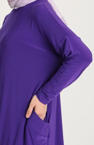 Sandy Tunik Pantolon İkili Takım 5015-07 Mor