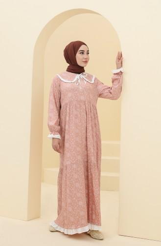 Powder Hijab Dress 21Y8400-03