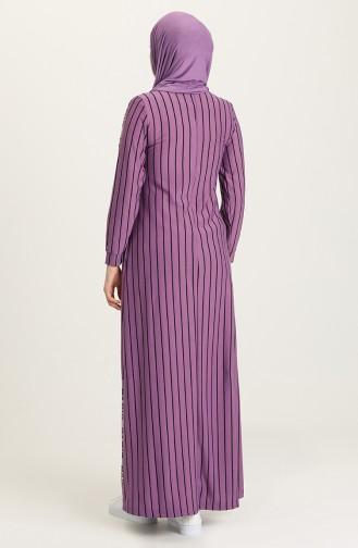 Purple Hijab Dress 0884-07