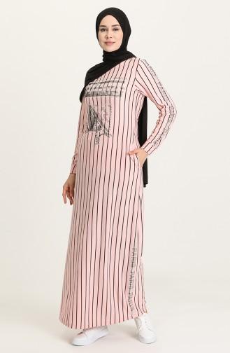 Powder Hijab Dress 0884-09