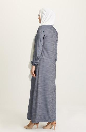 Denim Blue Abaya 3068-2