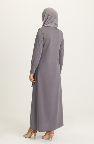 Gray Abaya 1014-02