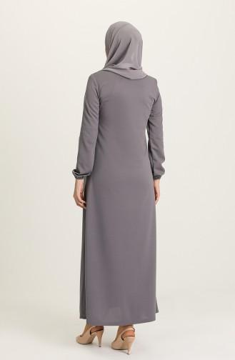 Gray Abaya 1011-04