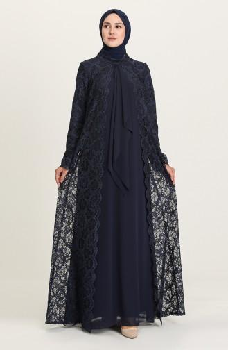 Habillé Hijab Bleu Marine 3001-03