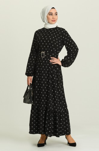Black Hijab Dress 2205-04