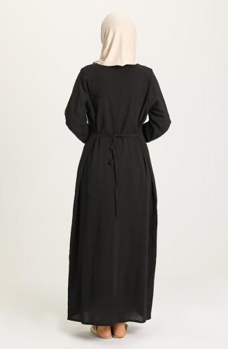 Black Hijab Dress 0099-02