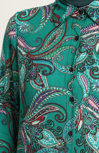 Smaragdgrün Tunikas 6519-01