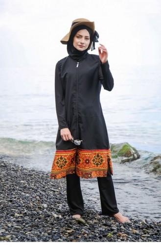 Black Modest Swimwear 109