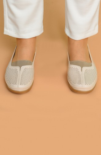 Beige Casual Shoes 305-01