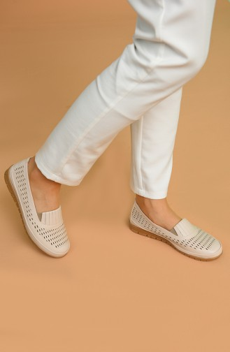 Beige Casual Shoes 901-01