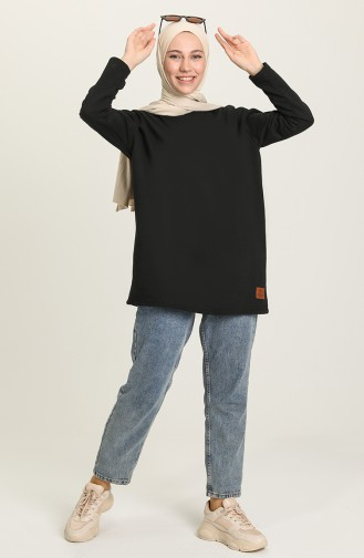 Sweatshirt Noir 2395-01