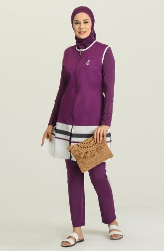 Purple Swimsuit Hijab 1885-01