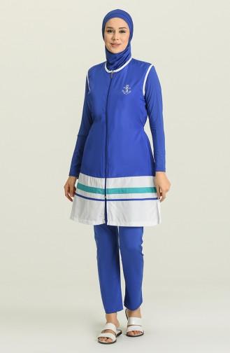 Saxon blue Swimsuit Hijab 1885-03
