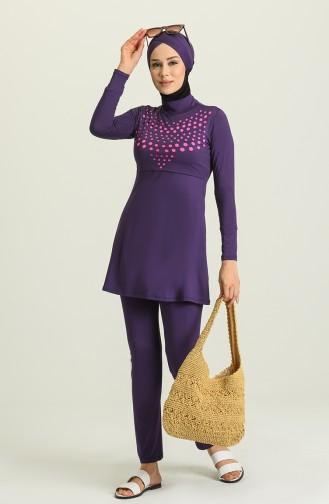 Maillot de Bain Hijab Pourpre 1951-02