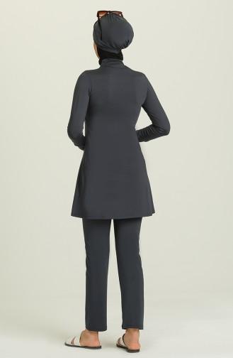 Anthrazit Hijab Badeanzug 1951-04