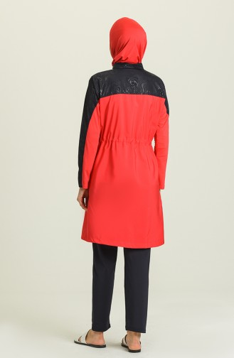 Dunkelblau Hijab Badeanzug 1972-01