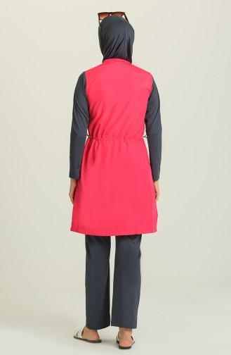 Maillot de Bain Hijab Fushia 1979-01
