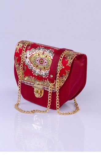 حقيبة كتف أحمر 2857