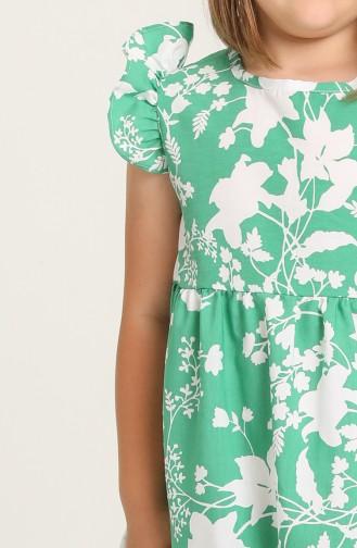 Robe Enfant Vert 5402-01