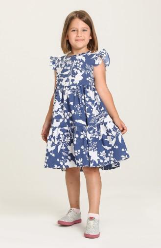 Navy Blue Children`s Dress 5402-06