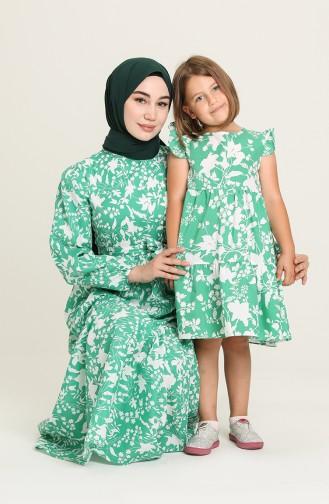 Green İslamitische Jurk 5400-01