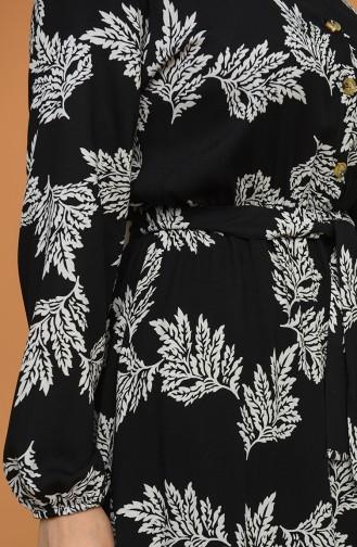 Black Hijab Dress 4566-03