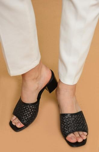 Black Summer Slippers 9-17-01