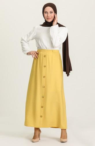 تنورة أصفر زعفران 10202113-08